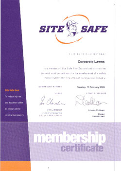 Site Safety Certificate